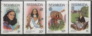 Bermuda - Scott 397-400 - Miss World -1980 - MNH - Set of 4 Stamps