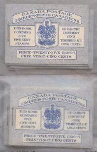 Canada - 1954 5c QE Wilding Booklets X 12 #BK49a