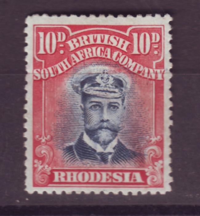 J17103 JLstamps 1913-23 rhodesia mh #129 king see 2nd scan pencil marks