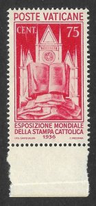 Doyle's_Stamps: XF+ Vatican City Scott #51** 1936 75-Cent Issue