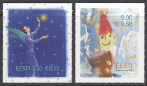 2010 Estonia 679-680 Christmas 1,90 €