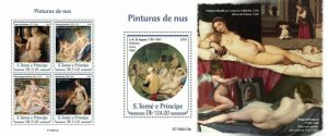 Z08 IMPERF ST190513ab Sao Tome and Principe 2019 Nude paintings MNH