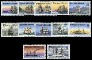 Pitcairn Islands 1988 QEII 'Ships' set complete VFU. SG 315-326. Sc 298-309.