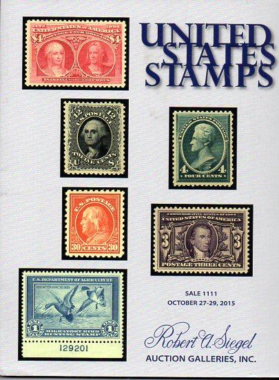 Siegel Auction of Early US STAMPS