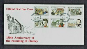 Falkland Islands: 1994  150th Anniversary of the Founding of Stanley,  FDC