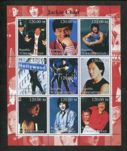 Turkmenistan Commemorative Souvenir Stamp Sheet - Martial Artist Jackie Chan