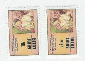St. Lucia   Mnh  sc#  501-502