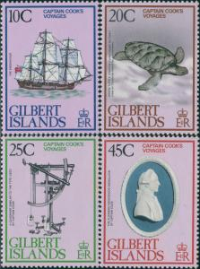 Gilbert Islands 1979 SG80-83 Captain Cook's Voyages set MNH