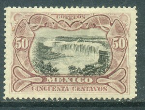 MEXICO 301a, 50¢ LILAC & BLACK JUANACATLAN WATERFALLS. UNUSED, H OG. F-VF.
