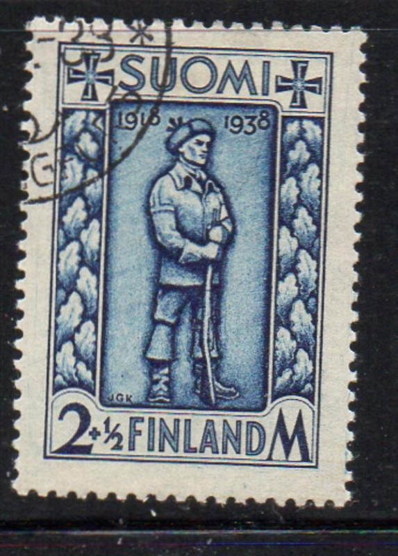 Finland Sc B34 1938 Soldier stamp used