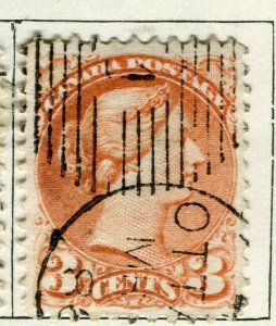 CANADA; 1870s early classic QV Small Head issue used 3c. value Postmark