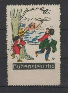 Germany - Bubenstreiche (Boyish Pranks) Vignette Poster Stamp #39 - NG