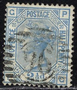 Great Britain 68 Used Plate #20 1880 issue