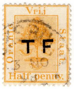 (I.B) Orange Free State Telegraphs : ½d Pale Orange (setting 4) overprint error