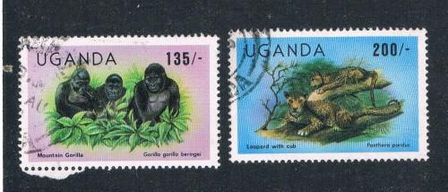Uganda 401;403 Used Animals  (U0050)