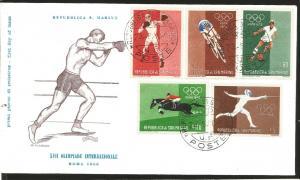 O) 1960 SAN MARINO, OLYMPIC GAMES-ROME, BOXING-BICYCLING-SOCCER-EQUESTRIAN-FENCI