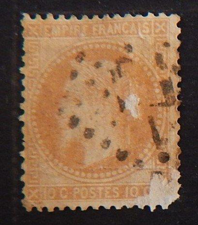 France, 1863-1870, Emperor Napoléon III, New Design's, YT #28, (2181-Т)