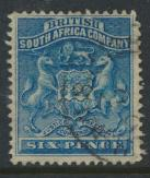 British South Africa Company / Rhodesia SG 3 SC# 7   Used  dp blue