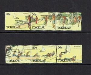 Tokelau Islands: 1989 Food Gathering,  MNH set