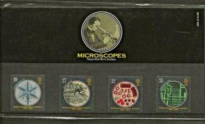 1989 ROYAL MICROSCOPICAL SOCIETY 1839-1989 PRESENTATION PACK 201