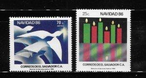 El Salvador 1986 Christmas Sc 1118-1119 MNH A2031