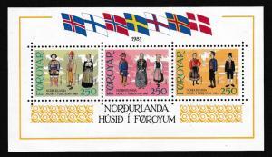 Faroe Is. Inauguration of Nordic House MS SG#MS89 MI#Block 1