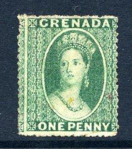 Grenada 1863 1d green wmk small star mint CV min