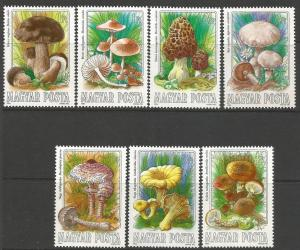 HUNGARY 2873-79 MNH MUSHROOMS Z198
