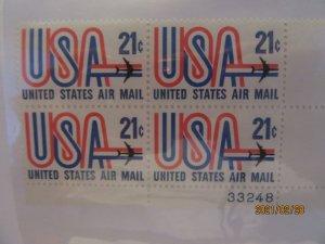 SCOTT C-81 21 CENT USA & JET AIRMAIL 1971 OG