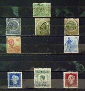 DUTCH INDIES Used #31,38-41,44,48-9,53-4,117-8,127,147,173,231,260,282,286 $4.75
