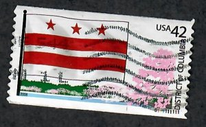 US #4283 DC Flag Used PNC Single Plate #S111111111