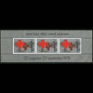 NETHERLANDS 1978 - Scott# B547a S/S Red Cross NH