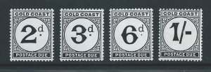 Gold Coast #J5-8 NH 1951-2 Postage Dues