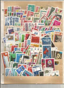 GERMANY DDR COLLECTION ON STOCK SHEET, MINT/USED