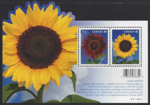Canada #2440 mint ss, Sunflowers, issued 2011