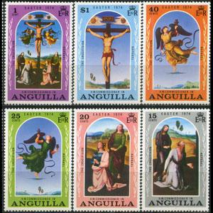 ANGUILLA 1974 - Scott# 187-92 Easter Set of 6 NH