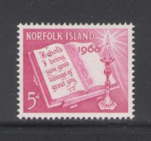 Norfolk Island 1960 Christmas Scott # 43 MH