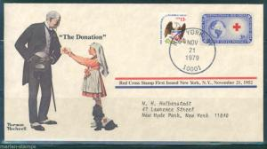 UNITED STATES NORMAN ROCKWELL SPECIAL COVER THE DONATION AS SHOWN