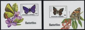Dominica 1700-1 MNH Butterfly, Flower, Berry