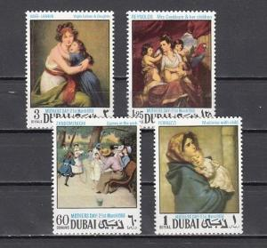 Dubai, Scott cat. 303-306 A. Mother`s Day Paintings issue.