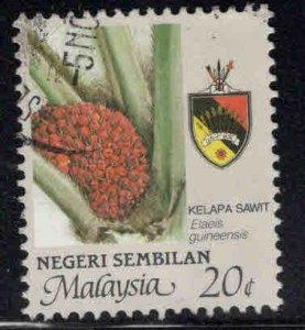 Malaysia -  Negri Sembilan Scott  104 used Agriculture stamp