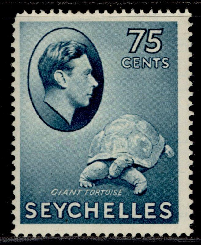 SEYCHELLES GVI SG145, 75c slate-blue, M MINT. Cat £85.