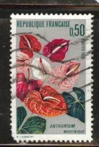 France Scott 1356 used 1973 Anthurium flower rounded corner
