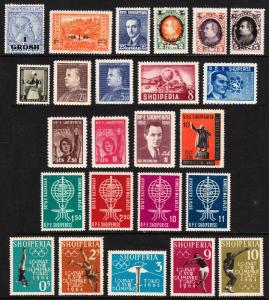 ALBANIA — SCOTT 50//733 — 1914-64 SINGLES AND SETS — MH/MLH/MNH — SCV $106.70