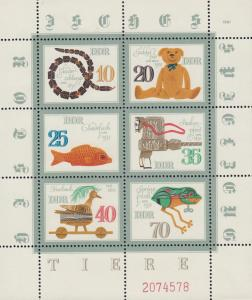 East Germany - 1981 Toys complete sheet Sc# 2231 - MNH (130N)
