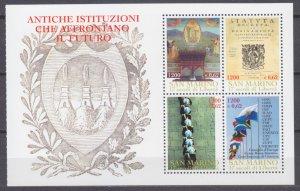 2000 San Marino 1925-1928/HB10 1700 years of the Republic of San Marino