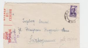 SOUTH WEST AFRICA -SWAKOPMUND 1942 CENSOR COVER, TAPE 2A1, 2d RATE (SEE BELOW