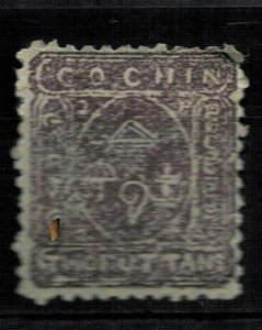 india- cochin  state - 1892sg no 3or 7  lmm