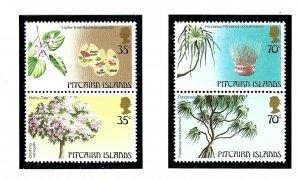 Pitcairn Is 229-30 MNH 1983 Local Trees          (KA)