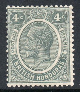 British Honduras 1922 KGV 4c grey wmk MSCA SG 130 mint CV £22